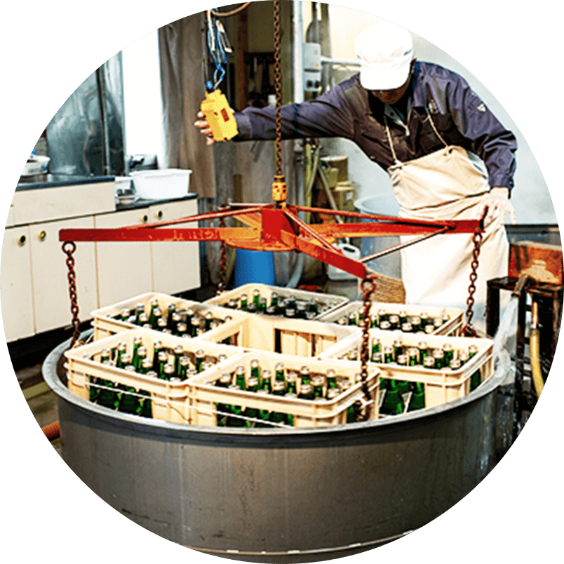 Bottling, Pasteurization and Rapid Cooling